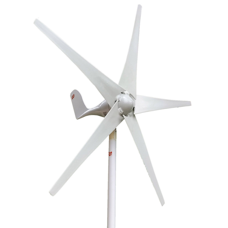 MarsRock Wind Turbine Generator Economy 2m/s Low Star-up Wind Speed 100W 200W 300W 400W Windmill AC 12V or 24V 5 Blades(300Watt 12volt) by MarsRock