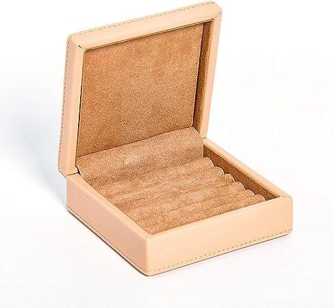 JIAYING Cajas para Joyas Cajas de Joyas, Joyero Organizador, Caja para Joyas, Cajas de Joyas Regalo, Estuche for exhibición de Pendientes, pequeño y Lindo, fácil de Llevar (Gris, Caqui): Amazon.es: Hogar
