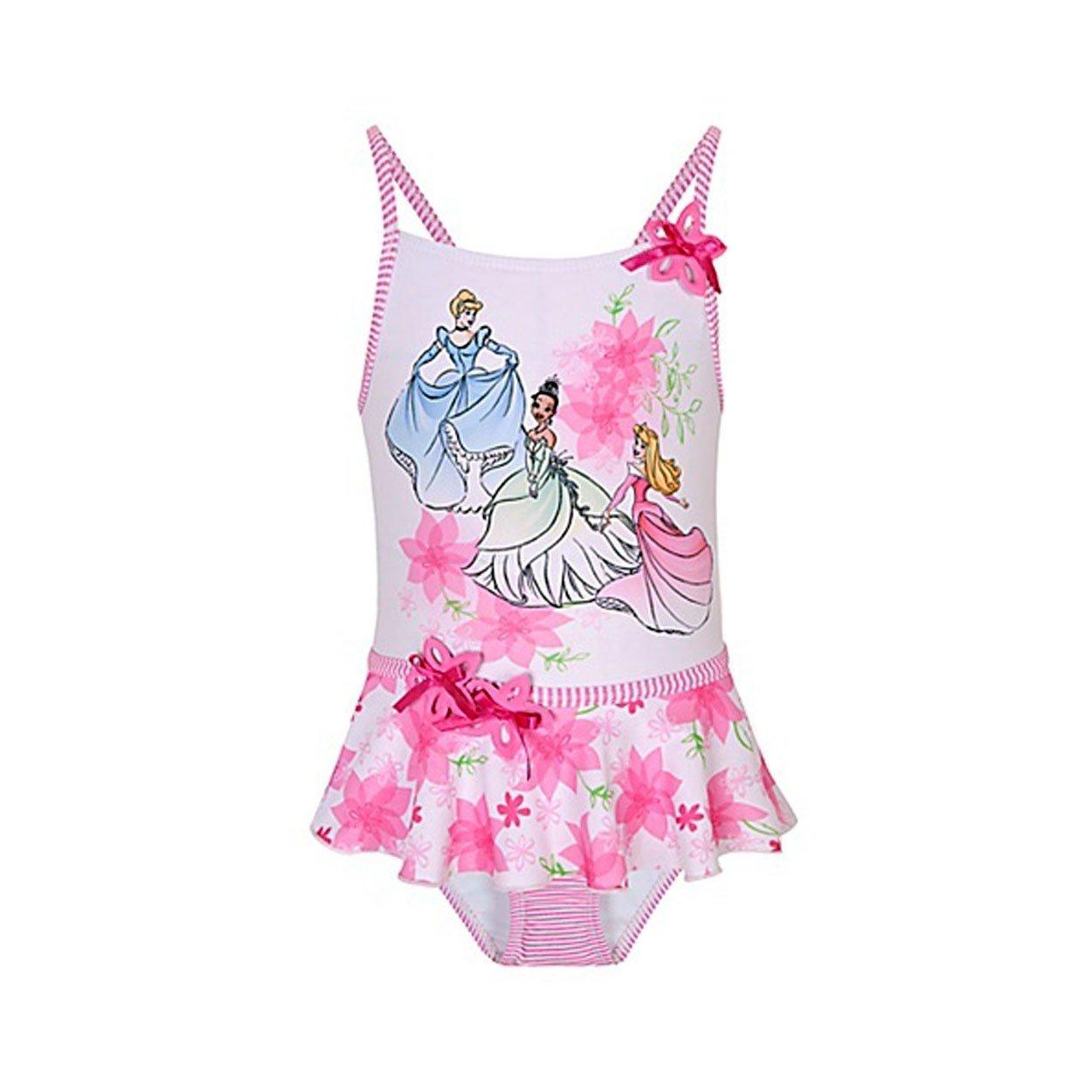 Disney Princess Flowers Pink One Piece Swimsuit XXS XXS 2//3 -L 10 2//3
