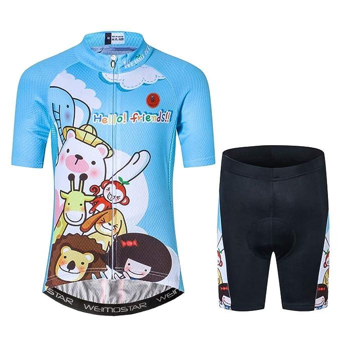 Amazon.com: Juego de ropa de ciclismo para niños ...