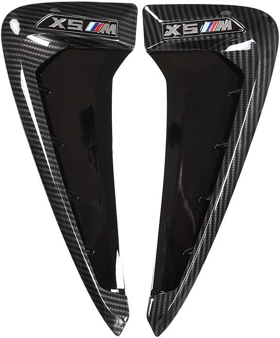 METYOUCAR ABS Xdrive Carbon Fiber Shark Gills Side Decoration Fender Vent Trim for BMW X5 F15 X5M F85 14-17
