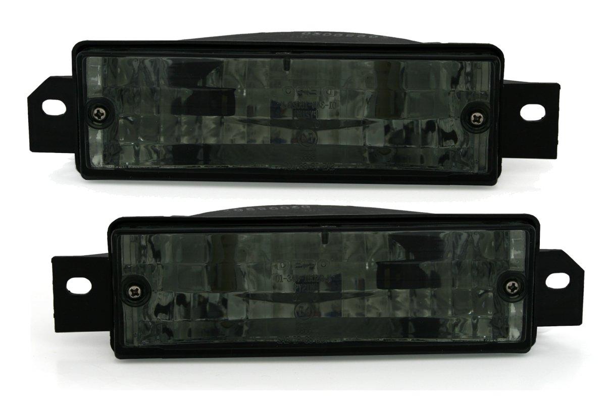 KG 960005/frontal Set de intermitentes vidrio claro Negro AD Tuning GmbH /& Co