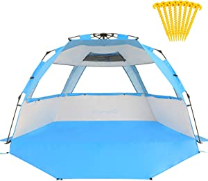 Gorich Easy Set Up Beach Tent with SPF UV 50+ Protection
