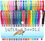 Super Doodle 36 Color Gel Pen Set - Artist Quality Gel Pens with Comfort Grip for Coloring and Crafts - Glitter, Metallic, Neon, and Pastel Colors