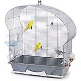 Savic Ellipse 50 Cage pour Petit Oiseau Argent 70 x 36 x 75 cm