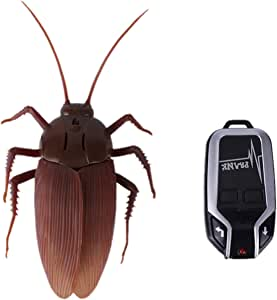 Greatstar 【Upgraded Version】 Infrared Remote Control Realistic Fake Cockroach RC Prank Toy Insects Joke Scary Trick for Party Or Christmas&Halloween Gift