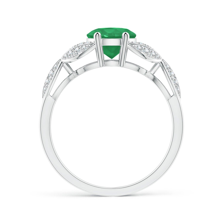 Angara Amethyst and Diamond Trillium Petal Flower Ring F9CxgpMEl