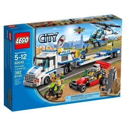 382 Pieces, Dirt Bike, Dune Buggy & Opening Rock Hideout Helicopter Transporter Set