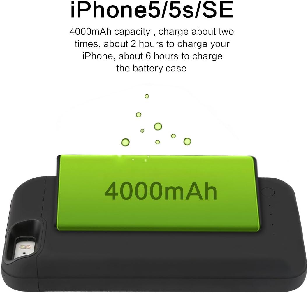 iPhone 5 5S 5C SE Batteria Custodia BasicStock 4000mAh Cover