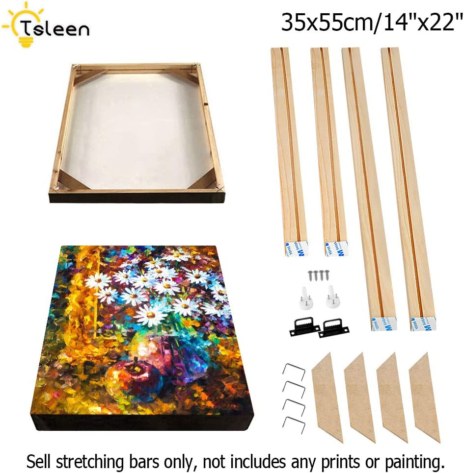 Wood Art Stretcher Bars Painting Canvas Wooden Frame for Gallery Wrap Oil Painting,Stretcher Bars DIY,Canvas Mounting Frames,Needlepoint Arts,35x45cm//14x18