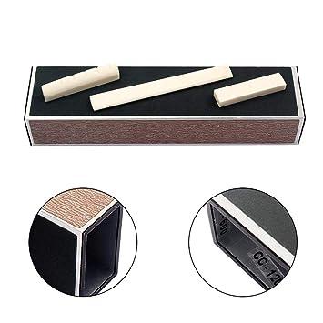 Kobwa - Nivelador de trastes para guitarra (aleación de aluminio, 4 papeles de lija autoadhesivos para bajo de guitarra plegable): Amazon.es: Instrumentos ...