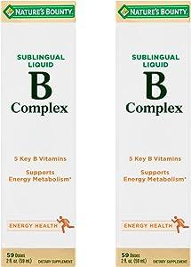 Nature's Bounty Vitamin B Complex Sublingual Liquid 2 oz (Pack of 2)