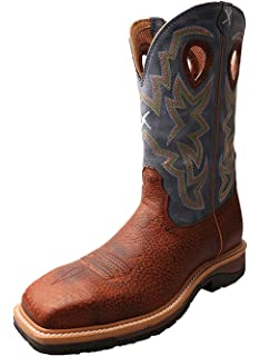 Twisted X Mens Lite Cowboy Work Boot Soft Square Toe