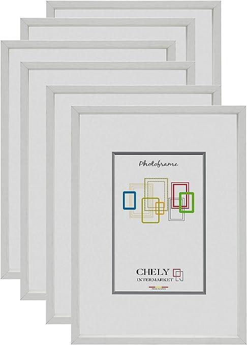 Chely Intermarket, Marcos de Fotos 13x18cm MOD-3507 (Blanco) (Pack ...
