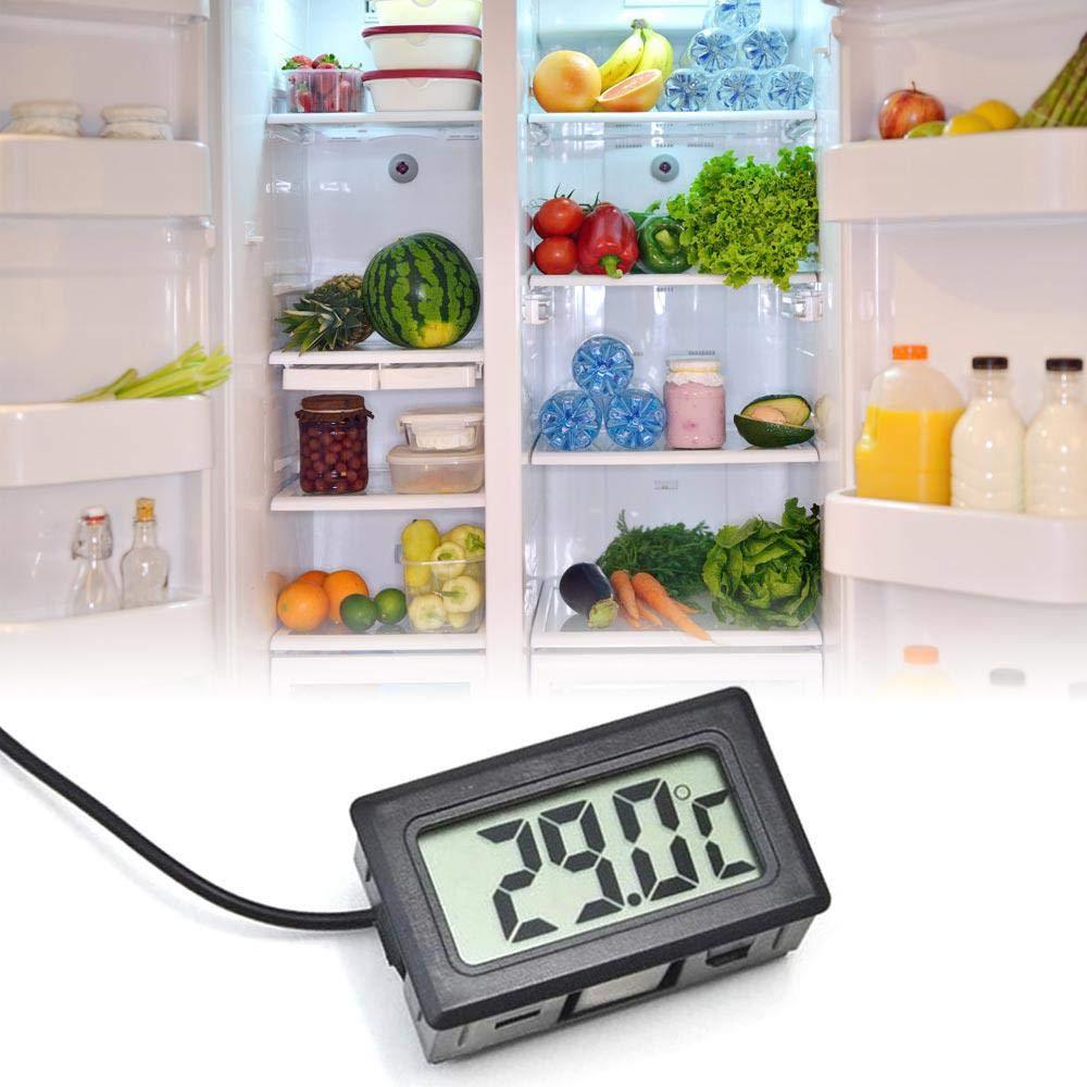 TEEPAO Mini term/ómetro Digital para refrigerador con Pantalla LCD para Aire Acondicionado de Coche Temperatura del Agua del refrigerador