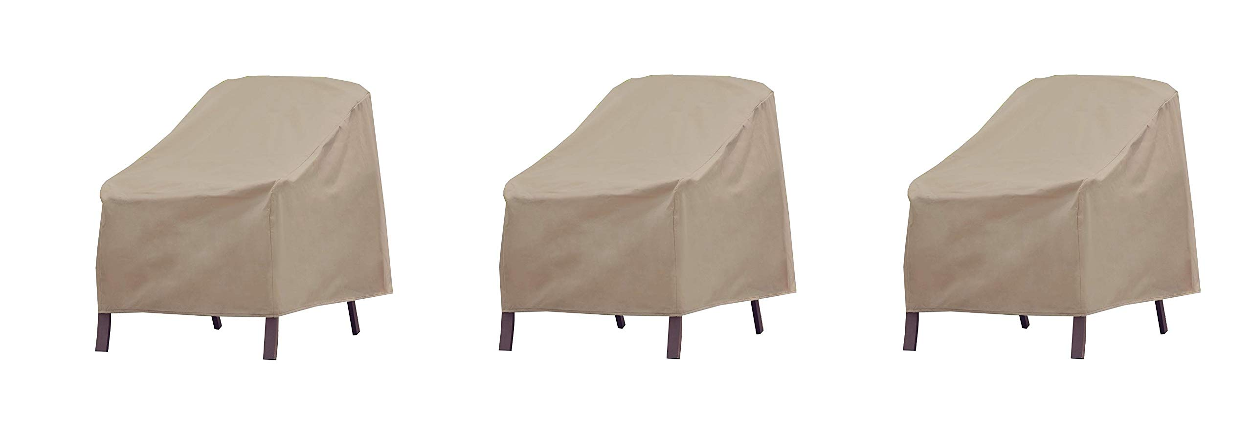 Modern Leisure Patio Furniture Chair Cover, Weather & Waterproof Patio Chair Cover (Pack of 3)