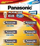 Panasonic Battery Alkaline LR03TDG/6B 1.5V AAA Battery (Multicolor)