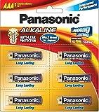 Panasonic Alkaline LR03TDG/6B 1.5V AAA Battery (Multicolor)