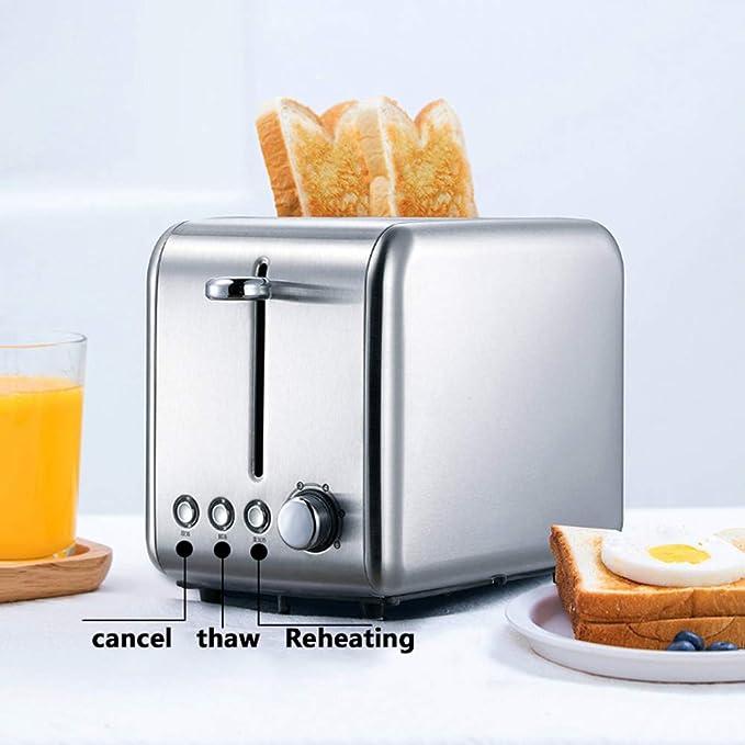 MIAO. 2 Slice Toaster, 770W Acero Inoxidable Tostadora - 6 ...