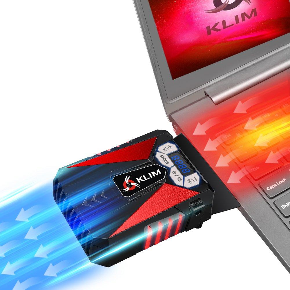 Klim Cool – Ventilador de Alto Rendimiento para una rápida refrigeración, aspiradora de Aire USB, Azul K29