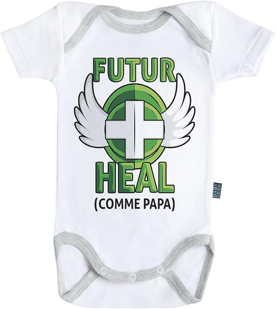 Blanc Ma Super Famille Coutures Grises Parent Baby Geek Mon Super Tonton Coton Body B/éb/é Manches Courtes