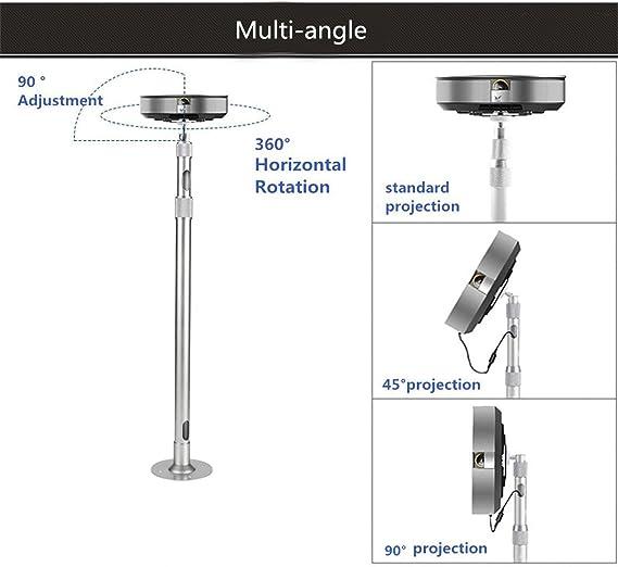 Support universel pour mini-projecteur de Zice charge de 5 kg aluminium