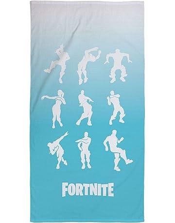 Fortnite Oficial Shuffle Azul Toalla Super Suave Tacto 100% algodón hogar, Playa y Piscina