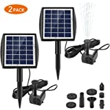 Ankway Solar Water Pump for Fountains with Panel 2.0W Upgrade Solar Pump Kit for Pond Bird Bath Pool Koi Goldfish Patio…