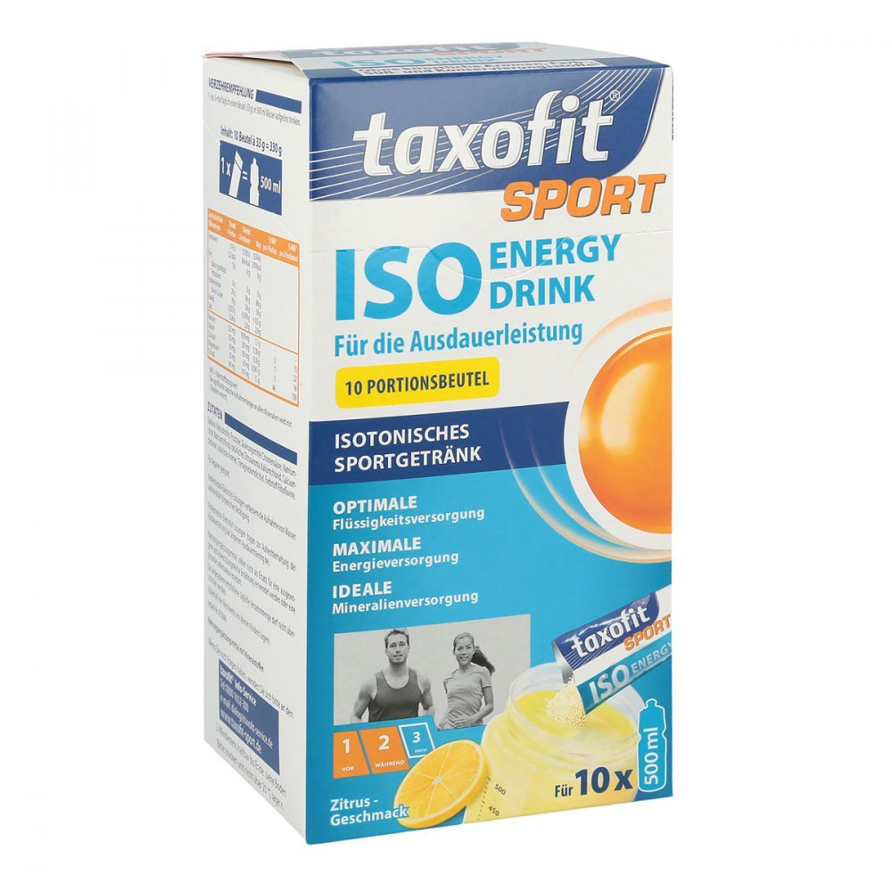 Taxofit Sport Iso Energy Drink Zitrone Geschmack 10 Portionen MHD 7 ...