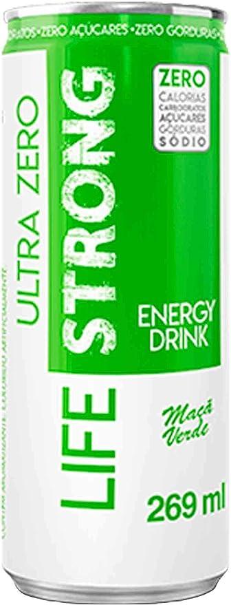 Energético Life Strong Green Apple Ultra Zero 269ml por Life Strong