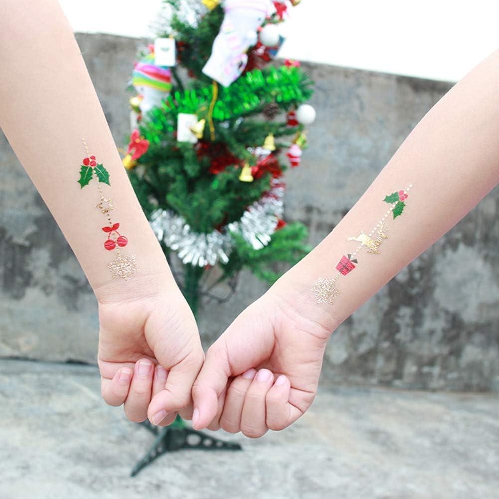 Christmas Temporary Tattoos for Children,Non-Toxic Bronzing Tatoo ...