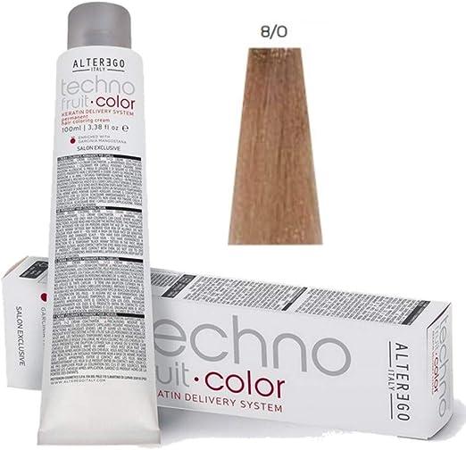 AlterEgo - Tinte Techno Fruit Color, 8/0 rubio claro, 100 ml ...