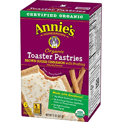 Annie's Organic Toaster Pastries, Brown Sugar Cinnamon Pastries with Frosting, Naturally Flavored, 6 Toaster Pastries