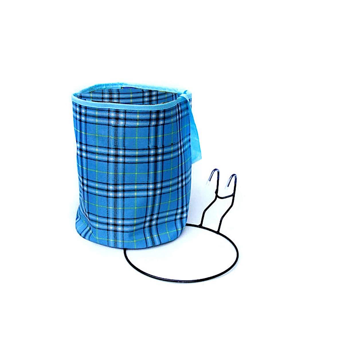 BlueBD Panier de V/élo Amovible avec Couvercle 23 x 30 cm