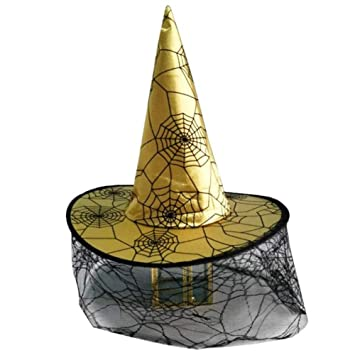 BWYFGRT Sombrero de Bruja de Halloween Disfraz de Disfraces de ...