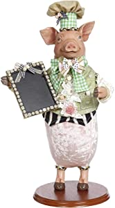 Mark Roberts Server Pig with Chalkboard 19 inches
