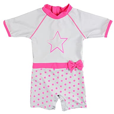 coupon codes 50% off closer at Elly La Fripouille Combinaison Maillot Anti-UV - Bébé - Fille - Power Girl