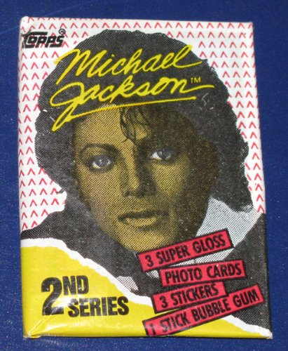 Vintage 1984 Michael Jackson Series 2 Wax Pack Trading Cards ()