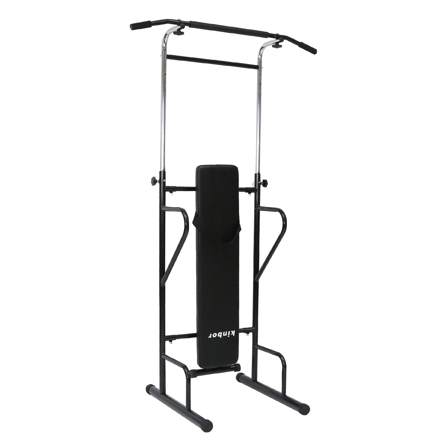 Peach Tree Power Tower Adjustable Height Multi-Function Home Strength Training Fitness Workout Station by Peachtree Press Inc