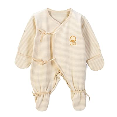 DuLuLu Baby Footed Sleeper Pajama Long Sleeves Lace Butterfly Romper Infant 0-3 Months