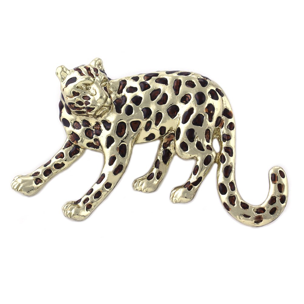 Cheetah Brooch Big Cat Safari Animal Lovers Pin Fashion Jewelry for Women Ladies Teen Girls