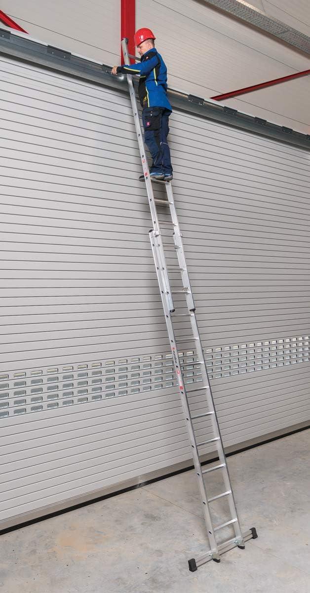 Aluminio – Escalera extensible (aluminio 2 piezas 2 x 17 peldaños: Amazon.es: Bricolaje y herramientas