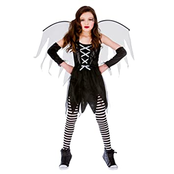m girls scary fairy halloween costume for fancy dress childrens kids childs medium age