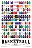 Pop Chart Lab 'A Visual Compendium of Basketball Jerseys' Poster Print, 24' x 36', Multicolored