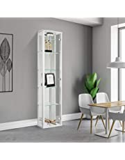 Displaysense Single Door Glass Display Cabinet with Lighting - 370mm (Colour Options Available)