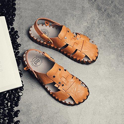 Color Playa cómodas Verano 2 Zhou de Zapatos Zapatillas 40 Size Caminar Sharon Adecuado 3 EU Sandalias Brown Ocasionales para Usados y Dos cómodas Viajar Zapatillas Brown nTxBWdU