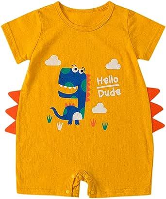 bebé niño niña Dinosaurio Animal Mono Manga Corto Recien ninos Algodon Bodies Linda bodis Peleles: Amazon.es: Ropa y accesorios
