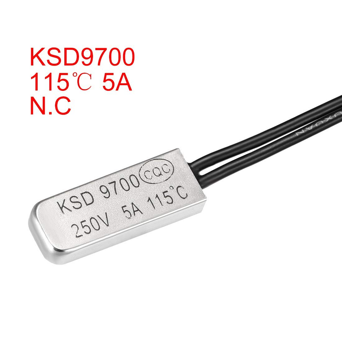 115 ℃ Normally Closed Temperature Switch Thermal Switch KSD9700 Thermostat N.C 5A Metal bimetallic Temperature Controller 2 Pieces