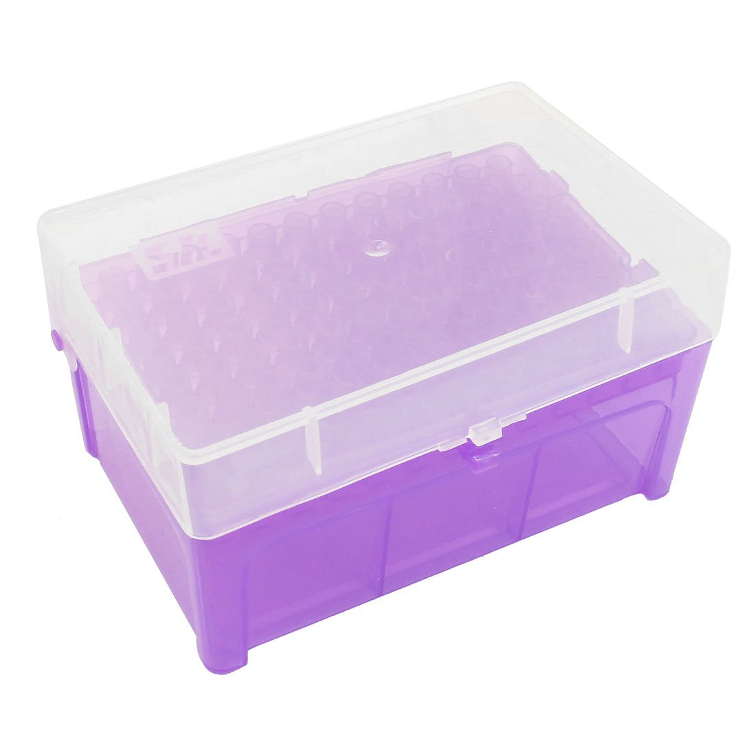 sourcingmap Laboratory 96 Positions 200uL Pipette Pipettor Tip Box Purple