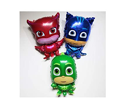 3Pcs Party pj mask balloon Characters Action Figure Toys Pajamas Party supplies Gift